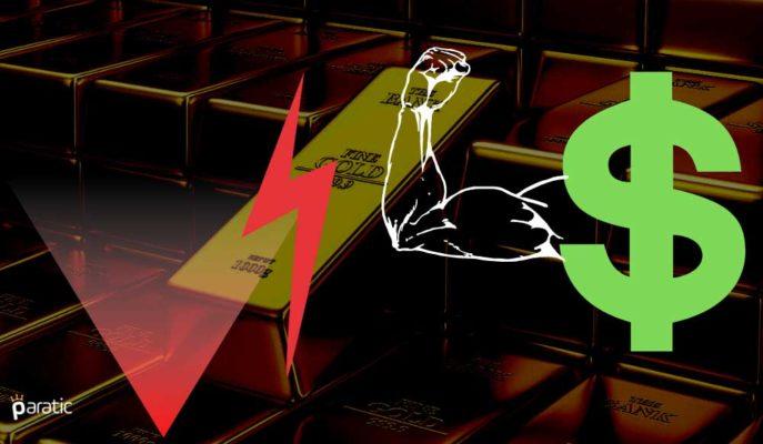 Ons Altın Rekor Kıran Tahvil Getirileriyle %1'den Fazla Düşüyor