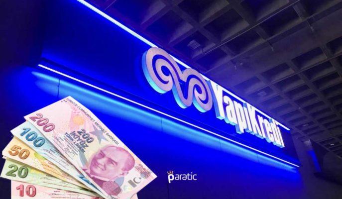Yapı Kredi Bankası 500 Milyon Lira Nakit Kâr Payı Ödeyecek
