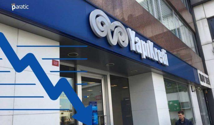 %1 Düşüş Gösteren Yapı Kredi Bankası Hisselerinin Aylık Kaybı %5'i Aştı