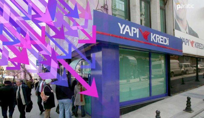 392 Gün Vadeli Tahvil İhracını Tamamlayan Yapı Kredi Bankası Hisseleri Düşüyor