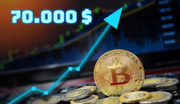Bitcoin'in Nisan Sonu 70 Bin Dolara Çıkacağı İddia Edildi