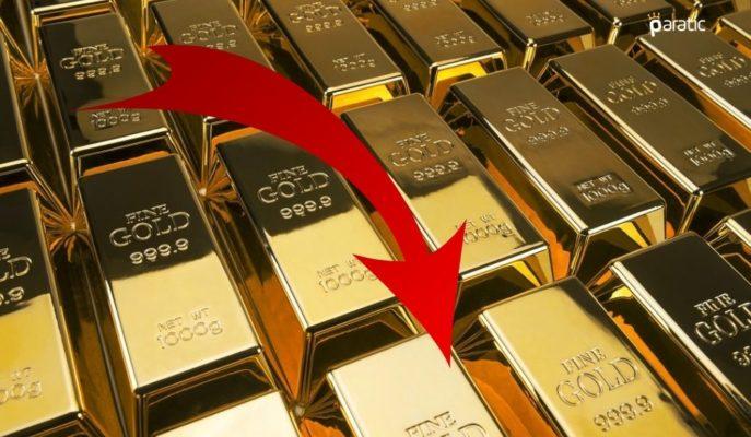 Düşüşünü Sürdüren Ons Altın 1787 Dolardan İşlem Görüyor