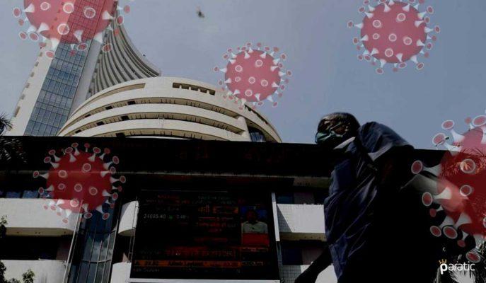 Günlük Vakaların İlk Kez 100 Bini Geçtiği Hindistan'da Borsa Sert Düştü