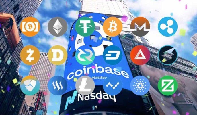 Kripto Para Piyasası Coinbase'in Nasdaq'daki İlk İşlem Gününde Büyüdü