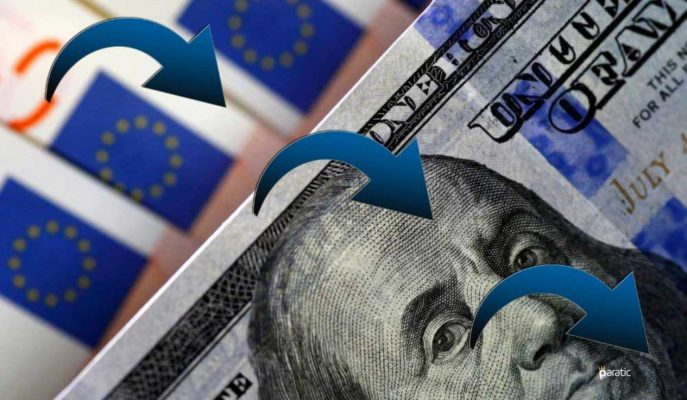 Dolar ve Euro Yatay Açılışın Ardından Yönünü Aşağı Çevirdi