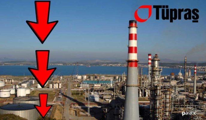 Tüpraş Hisseleri 760 Milyon TL'lik Net Zararın Etkisiyle Satış Baskısında