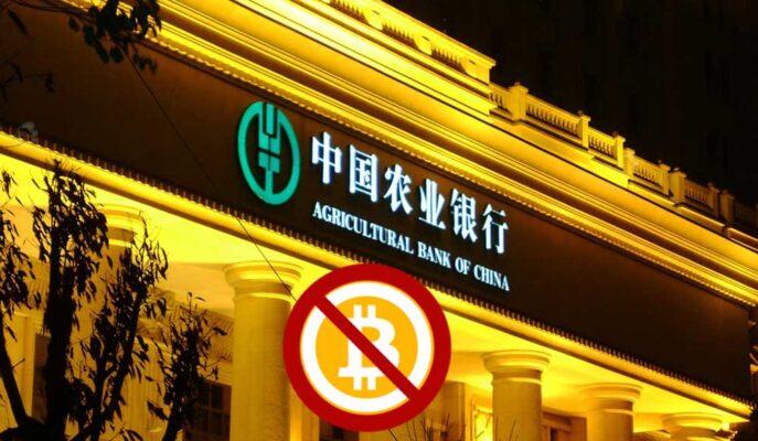 Agricultural Bank of China, Müşterilerin Bitcoin İşlemlerini Yasakladı