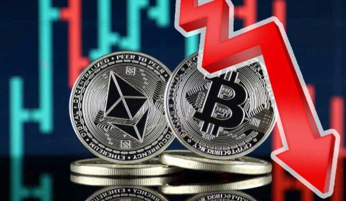 Bitcoin ve Ethereum Aşağı Yönde Kayıplarını Artırmayı Sürdürüyor
