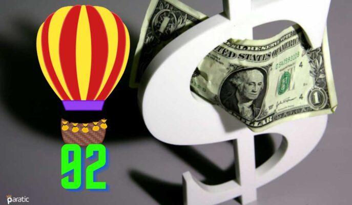 Dolar Endeksi Haziran Ayını 92 Üzerinde Bitirmeye İlerliyor