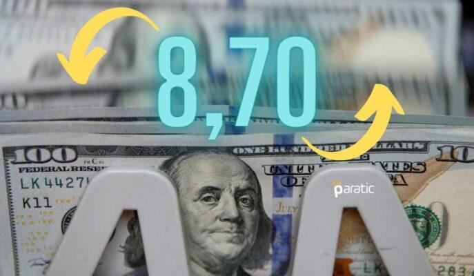 Dolar Haftanın Son İşlem Gününde 8,70'in Üstünde Seyrediyor