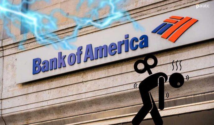 Bank of America Hisseleri Düşen Faiz Geliriyle %2 Geriledi