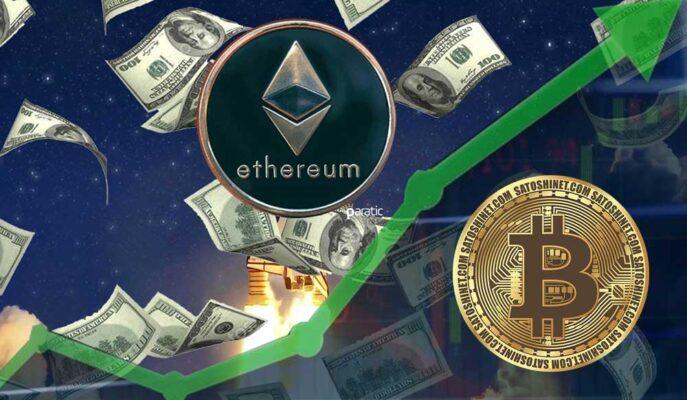 Ethereum'un İşlem Hacmi 2021'de Bitcoin'den Fazla Büyüdü