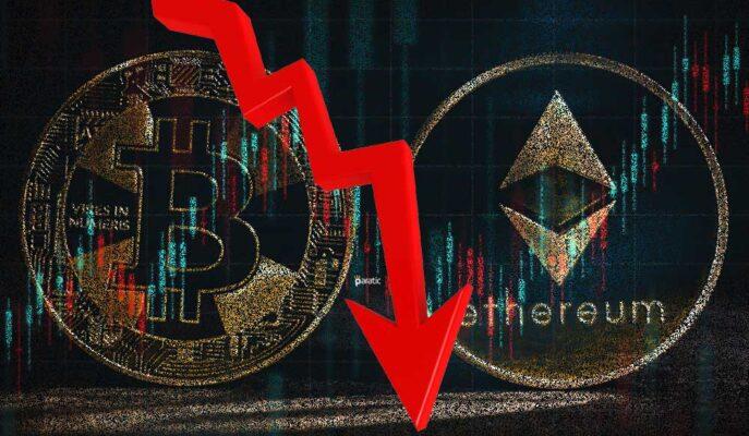 Bitcoin 44 Bin Dolara Gerilerken, Ethereum'da Kayıplar Artıyor