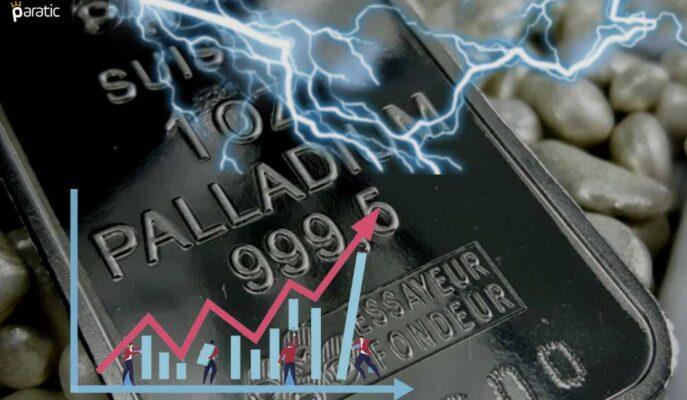 Paladyum %1,70'e yakın Kayıpla En Çok Düşen Emtia Oldu