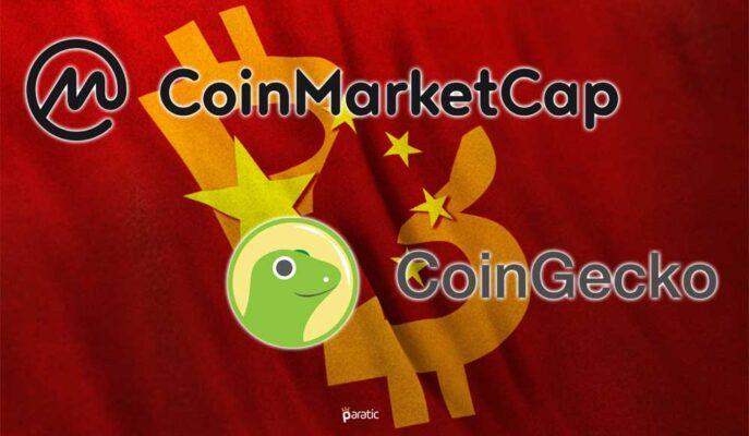 Çin Hükümeti CoinMarketCap ve CoinGecko'ya İnternet Erişimini Engelledi