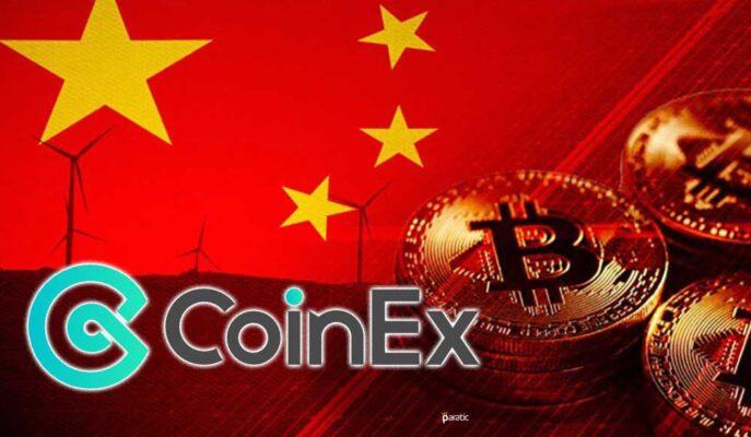 CoinEX Borsası Çin'deki Kullanıcıların Kayıtlarını Sonlandırıyor