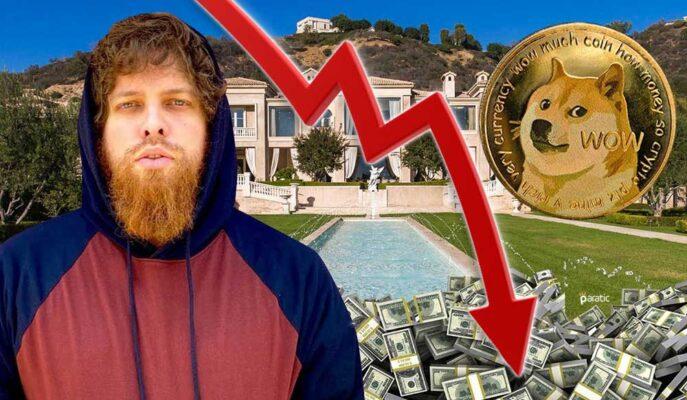 Dogecoin Balinası Kripto Paranın Düşüşü ile 500 Bin Dolar Kaybetti