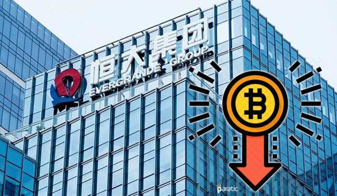 Çin'den Gelen Evergrande Açıklamaları Sonrası Bitcoin 43 Bin Dolara Düşüyor