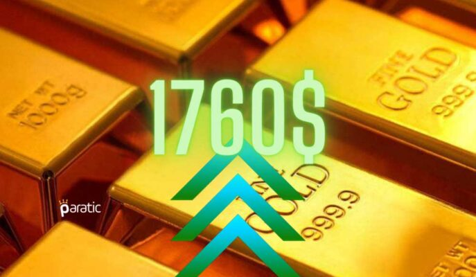 Ons Altın Dolardaki Zayıflıktan Yararlanarak 1750 Sınırının Üstünde
