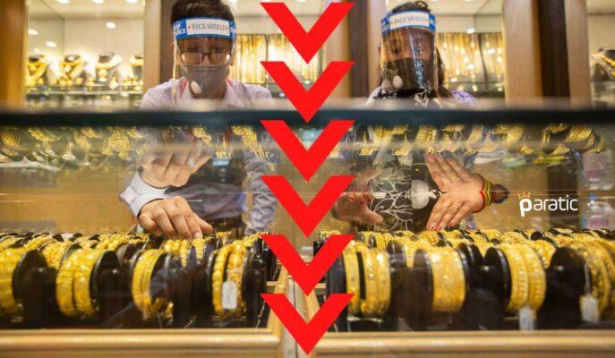 Altın Fiyatları Aşağı Yönlü Risklere Maruz Kalmaya Devam Ederken Geriliyor
