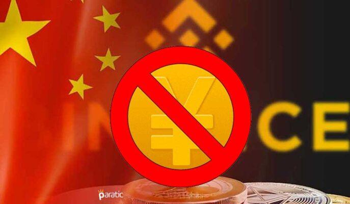 Binance Kısıtlamalar Sonrası Çin Yuanı Ticaretini Kaldırıyor