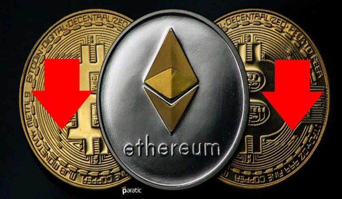 Ethereum, Bitcoin Paritesinde Son İki Ayın En Düşüğüne Geriledi