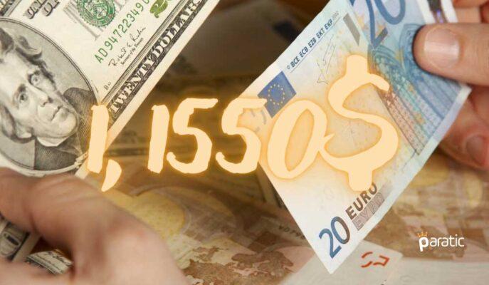 EUR/USD 1,1550 Sınırıyla Savaşırken Kayıpları Artmaya Devam Ediyor