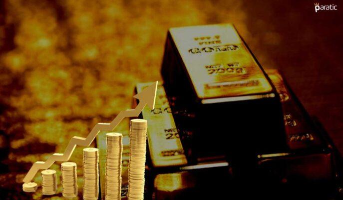 Ons Altın Ekside İşlem Görse de Haftalık Kazancı %1,5'e Ulaştı
