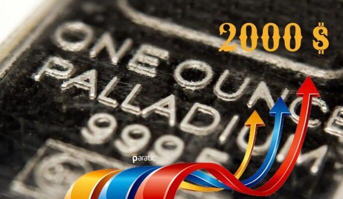 Paladyum %5'lik Artışla 2000 Doların Üzerinde Tutundu